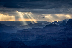 Sunbeams (Kirk Lougheed) Tags: arizona coloradoplateau desertview grandcanyon grandcanyonnationalpark southrim usa unitedstates canyon cloud landscape nationalpark outdoor park rim sky summer sunbeam sunset