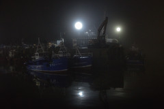 harbour lights (stocks photography.) Tags: michaelmarsh whitstable photographer harbour seaside coast night photography maritime boats fishing trawler cockles