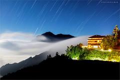 合歡山夜色 (蕭世榮) Tags: 合歡山 松雪樓 雲海 銀河 星軌 夜景 fog landscape night