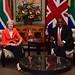 President Cyril Ramaphosa and UK Prime Minister Theresa May at Tuynhuys, 28 Aug 2018