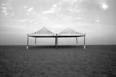 Absence - Muravera (Sardinia) - August 2018 (cava961) Tags: muravera analogue analogico monocromo monochrome bianconero bw