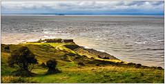 Brean Down Fort looking across the Severn (c.richard) Tags: breandown brean somerset riversevern coast steepholm flatholm