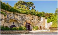 Troglodyte wine cellar (Babethaude) Tags: cellars indreetloire touraine architecture troglodyte wine gallery