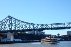 Paddlesteamer Under Story Bridge (mikecogh) Tags: brisbane cbd storybridge paddlesteamer brisbaneriver