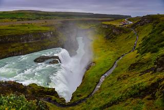 Gullfoss Waterfalls on the Hvítá river - along the Golden Circle - Gullfossi Iceland