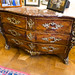 Antique commode with silver fixtures
