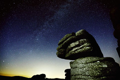 The Milky Way Over Dartmoor (charlieishere@btinternet.com) Tags: stars night sky rocks dartmoor milkyway longexposure