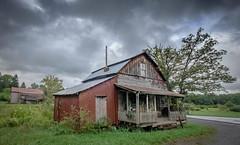 Dawson UMC with Clouds (Bob G. Bell) Tags: abandonedchurch church umc dawson greenbrier wv bobbell xe2 fujifilm sky clouds roads