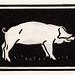 Pig (1923) by Julie de Graag (1877-1924). Original from the Rijks Museum. Digitally enhanced by rawpixel.