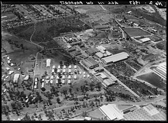 Villawood, Liverpool, Sydney, 1967, Milton Kent, State Library of New South Wales (State Library of New South Wales collection) Tags: milton kent photography aerial sydney early glass plate negatives