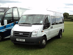 Mick Hodgson Vehicle Rental of Scarborough YS10XHT (yorkcoach2) Tags: york scarborough mickhodgsonvehiclehire ford fordtransit ys10xht races racecourse raceday
