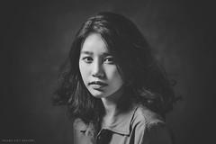 * * * (Hoàng Việt Nguyễn) Tags: people portrait beauty blackwhite bw blackandwhite girl glamour young face dark studio d610 nikon vietnam vietnamese asian