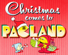 Christmas comes to Pac-Land, Pac-Man animation cel, 1982 (gameraboy) Tags: cartoons art illustration animation animationcel cel vintage television christmascomestopacland pacman 1980s 1982
