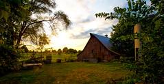 A New Day is Dawning (KC Mike Day) Tags: farm barn rural farmilfe silo dawning sunrise clouds