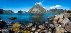 Panorama Kjerkfjorden (Norway) (christian.rey) Tags: panorama kjerkfjorden lofoten islands îles reine paysage landscape seascape mountain sea montagnes fjord rocks norway norvège sony alpha a7r2 a7rii 1635 assemblage