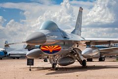 F-16A Fighting Falcon (Ross Dinsdale) Tags: arizona pasm f16 usaf generaldynamicsf16afightingfalcon airforce tucson unitedstatesairforce f16a fightingfalcon f16afightingfalcon generaldynamics monsoon pimaairandspacemuseum monsoon2018 clouds