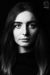 Helios Light & Shadow Project: Klaudia (mkarwowski) Tags: canon eod 80d canoneod80d eod80d helios44 helios44m6 m42 studio flash portrait people woman girl blackandwhite monochrome