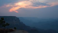 Layers in the canyon (M a u r i c e) Tags: grandcanyon unitesstates usa canon efs1022mmf3545usm landscape nature nationalpark landschap sky sunlight sunrise dawn canyon rock mist dew blue arizona