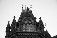 Watching over you. (Anxious Silence) Tags: berkshire reading blackandwhite winter readingmuseum architecture building