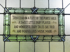 The Stanza Panel of the Fourth Ida Rentoul Outhwaite Stained Glass Children's Library Window - George Street, Fitzroy (raaen99) Tags: idarentoulouthwaite idarentoul idaouthwaite artist childrensbookillustrator illustrator 1926 1920s painter idarentoulouthwaitestainedglasswindows idarentoulouthwaitestainedglass library fitzroychildrenslibrary stmarkschildrenslibrary readingroom stmarktheevangelistchildrenslibrary handpainted childrensliterature fairytale fairytales childrensstory childrensstories australianliterature australianchildrensliterature fairy fairies faerie faeries elves elf story australianfairystory australianartist australianillustrator australianchildrensillustrator illustration elvesandfairies elvesfairies fairyland bookillustrator bookillustration literature childhood stainedglass stainedglasswindow window stmarktheevangelist stmarks stmarksfitzroy stmarksanglican churchofengland anglicanchurch anglican fitzroychurch fitzroy georgest georgestreet church placeofworship religion religiousbuilding religious melbourne
