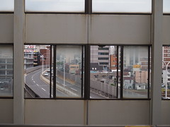 Frames (anna.letoile) Tags: japan nihon hiroshima hiroshimastation window frame city pov composition 日本 広島 広島駅 日常 daily dailylife olympus olympus25mmf18