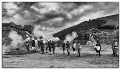 ...which way am I supposed to be shooting..? (NeilDonaldson) Tags: corfe castle gun powder battles soldiers war elizabeth parliamentarian forces national trust medieval