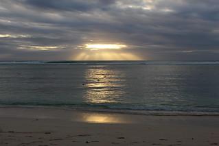 Coucher de Soleil sur l'océan Indien