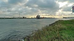 P1060988hs (hans hoeben) Tags: view from north sea holland looking canal amsterdam harbor head hans hoeben panasonic lx3 west lumix dutch scape light clouds