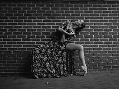 Cailey (steveedreff) Tags: legs brick wall bnw blackandwhite pointe dancing dance dancer female woman girl sexy beautiful ballerina ballet
