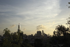 the sky of taipei (沐均青) Tags: landscape scenery travel tree flower nature park plants colorful yellow orange green white black gold sunset evening clouds sky light moon buildings city street summer