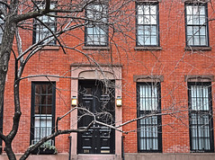 Greenwich Village (albyn.davis) Tags: building windows door tree architecture nyc newyorkcity travel usa brick red orange color
