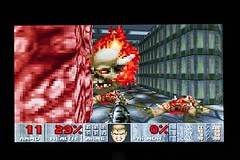 Screenshot from Doom by ID Software, 1993, Photo by @luisacivardi @verdebinario #console #retrogaming #retrogames #videogames #gamers #gaming #retroconsole #videogame #gaming #gamers #doom #idsoftware #computer #circuit #maker #laboratory #programmable #t (Museo dell'Informatica Funzionante) Tags: musif miai freaknet dyneorg trasformatorio