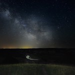 Milky Way Galaxy Center over the Little Missouri River (Theodore Roosevelt National Park - North Unit) thumbnail