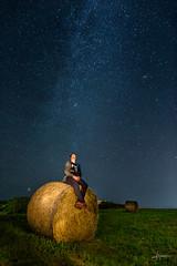 Self portrait (PiTiS ¬~) Tags: night noche nightscape stars estrellas fardo selfportrait light luces paisaje milkyway vialactea autoretrato