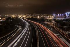 Adeje Light Trails w_DSC5949-HDR (hov1s@) Tags: nikon night nikond750 lighttrails traffic tf1 adeje costaadeje tenerife highway