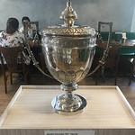 The trophy of the first Men's World Soccer Team Championship, my team, Palmeiros Futebol Clube, 1951,  Cantina Palestra, São Paulo, Brasil. thumbnail