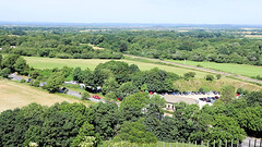 Swanage Railway seen from Corfe Castle in June 2018, the Isle of Purbeck, Dorset, England. (samurai2565) Tags: corfecastle castleindorset england purbecks wareham doomsdaybook bankesestate thenationaltrust swanage sandbanksferry studland swanagerailway corfecastlestation museumcorfecastle isleofpurbeck