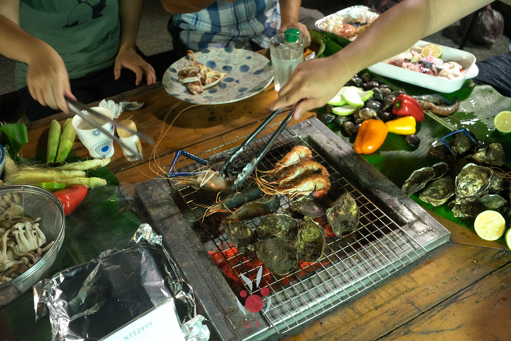 最奢華的中秋烤肉組 海鮮大集合之 龍膽石斑、泰國蝦、蚵、大卷 |小農聯盟28