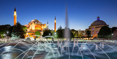 _MG_5174 - Hagia Sophia and Sultan Ahmad Maydan Fountain (AlexDROP) Tags: 2018 turkey europe istanbul art travel architecture byzantine color church cathedral fountain cityscape longexposure canon6d ef16354lis wideangle best iconic famous mustsee picturesque postcard