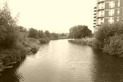 River Aire, Leeds city centre.    September 2018 (dave_attrill) Tags: river aire leeds city centre west yorkshire westriding september 2018