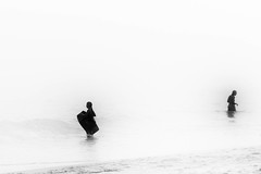 Foggy Day at the Beach (SebRiv) Tags: summicron35mmf2 35mm leica m10 sea plage brume minimalistic monochrome blackandwhite fog beach