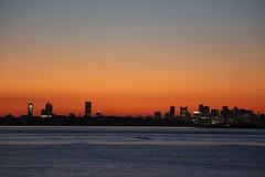Boston Skyline (Read2me) Tags: twilight pree cye tcfe hull ocean bay water city sky orange sooc friendlychallenges challengeclubwinner