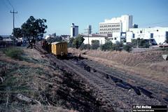 3697 RA1912 sleeper train West Leederville 25 May 1983 (RailWA) Tags: ra1912 sleeper train railwa philmelling westrail 1983 fremantle line west leederville