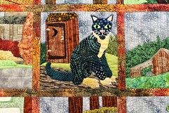 A Quilted Kitty (Sarah_ES) Tags: quilt colorful fabric design sewing kitty flickrology