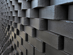 City wall *explored* (Claire Wroe) Tags: manchester city academy stadium football soccer footie sport brick wall black art architecture etihad campus velopark explore explored