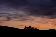 Red sky at night... (evakatharina12) Tags: würzburg marienberg festung fortress bavaria franconia unterfranken germany sky twilight sunset