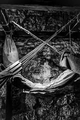 18th Century prison bunk (Niaic) Tags: bunk hammock hammocks prison prisoner prisoners jail war bed 1700s 18thcentury past history historic old edinburgh castle blackandwhite monochrome captive panasonic lx100 hanging hang hung swing swinging loop overlap cross