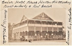 The Cedar Hotel at Finch Hatton, Qld - circa 1912 (Aussie~mobs) Tags: queensland australia vintage finchhatton cedarhotel georgewarburton mjwarburton aussiemobs