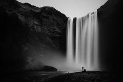Iceland (Kai-Uwe Klauss) Tags: skogafoss blackwhite bw blackandwhite schwarzweis sw schwarzweiss water waterfall wasserfall scandinavia skandinavien landscape landschaft photography kaiuweklauss iceland