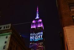 Empire State Building, 11.08.16 (gigi_nyc) Tags: election election2016 nyc newyorkcity night nightshots nightphotography empirestatebuilding